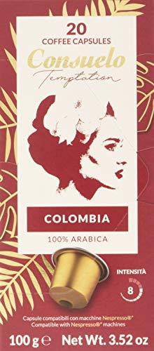 Consuelo - Cápsulas de café de Colombia compatibles con cafetera Nespresso*, 100 unidades (5 cajas de 20 cápsulas)