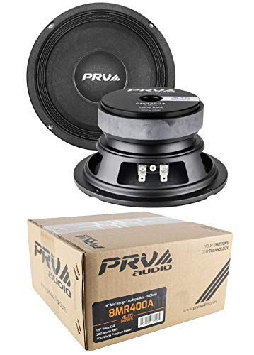 "2 x PRV Audio 8MR400A Mid Range 8"" Pro Audio Loud Speaker 8 ohm 800 Watts"
