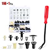 Nilight 166 Pcs Car Retainer Clips &Screw Grommets - 12 Most Popular Sizes & Applications for GM Toyota Honda Nissan Mazda - with Fastener Remover