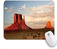 ZOMOY マウスパッド 個性的 おしゃれ 柔軟 かわいい ゴム製裏面 ゲーミングマウスパッド PC ノートパソコン オフィス用 デスクマット 滑り止め 耐久性が良い おもしろいパターン (赤い巨大な砂岩の柱が象徴的な風景の上に舞い上がるキャニオンバレーの砂漠ユタ州西部)