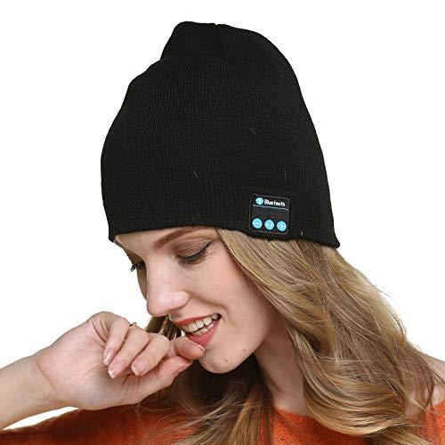 Gorra con Bluetooth Sombrero de Altavoz de Música V5.0 Actualizado Gorra de Running con Altavoces Estéreo y Micrófono, Sombrero de Invierno Unisex