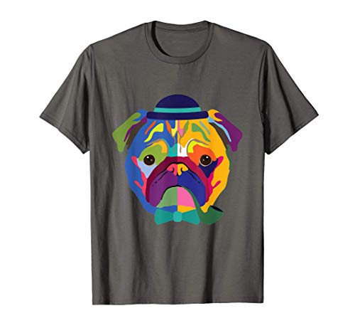 Bulldog Francé Arte Moderno Jazz Dueño de Perro Camiseta