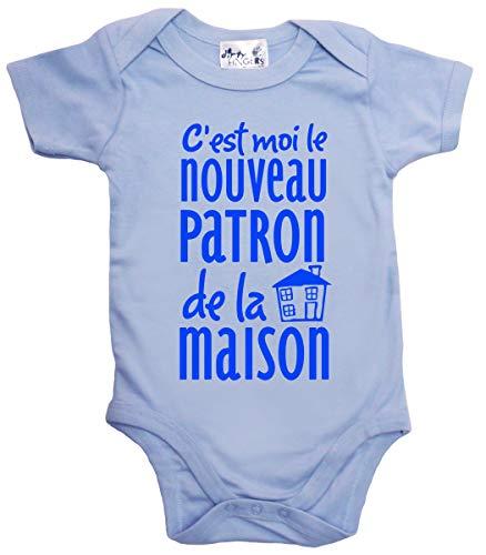 Dirty Fingers C'est Moi Le Nouveau Patron de la Maison Body bébé 6-12m Bleu