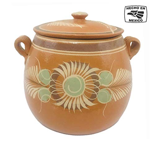 Mexican Handmade Cooking Pot (5 QT) Made of Clay Terra Cotta Traditional...