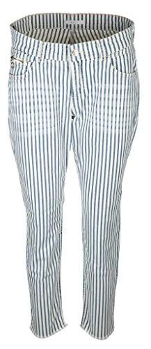 MAC Jeans Damen Fringe Slim Jeans, Blau (Urban Summer D222), 34W / 27L