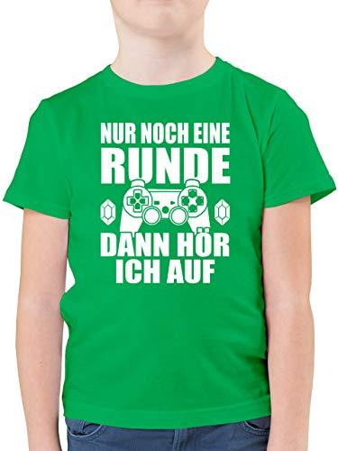 Sprüche Kind - Nur noch eine Runde - 152 (12/13 Jahre) - Grün - t-Shirt Jungs cool - F130K - Kinder Tshirts und T-Shirt für Jungen