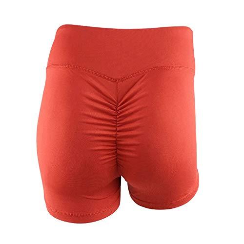 Gtagain Donna Alta Vita Yoga Shorts - Signore Elastico Pantaloncini Jogging Fitness Sport Palestra Allenamento Pantaloni Ghette