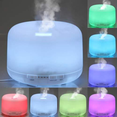 Aiho Diffusore di Aromi 500ml Ultrasonic Umidificatore per Grandi Ambiente Aromaterapia Diffusore di Oli Essenziali con LED 14 Colori Purifucatore d aria per Ufficio Spa Soggiorno Stanza per Bambin
