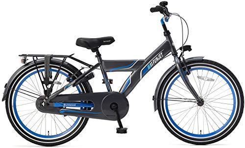 POPAL 22 Zoll Kinder Fahrrad Funjet X 22178 ohne Schaltung, Farbe:grau-blau