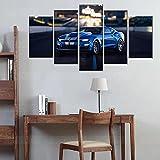 Cuadros decoracion dormitorios Chevrolet Camaro Superdeportivo-200x100 CM Cuadros Modernos Impresión de Imagen Artística Digitalizada Lienzo Decorativo Para Salón o Dormitorio 5 Piezas
