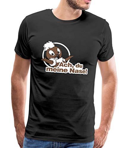 Sandmännchen Pittiplatsch ACH Du Meine Nase Männer Premium T-Shirt, L, Schwarz
