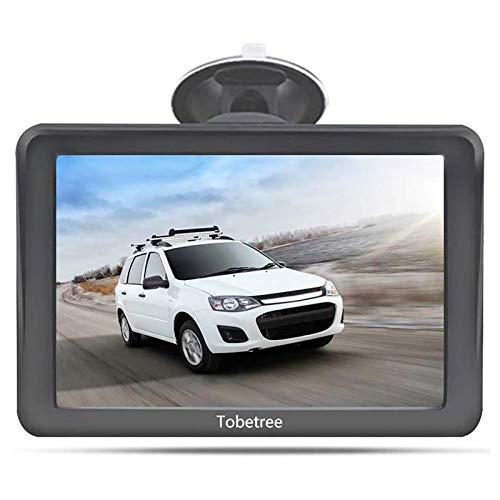 Tobetree MT988 GPS para Coche, Pantalla táctil de Alta resolución de 7 Pulgadas, GPS para Coche con Bluetooth Gratuito, actualización de mapas de Europa de por Vida