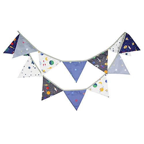G2PLUS 3.3M Banderines Guirnalda de Banderines,Banderines de Tela,Guirnalda Fiesta,Triángulo Multicolor Decoración Colgante de Boda Bautizo Fiesta Cumpleaños Navidad