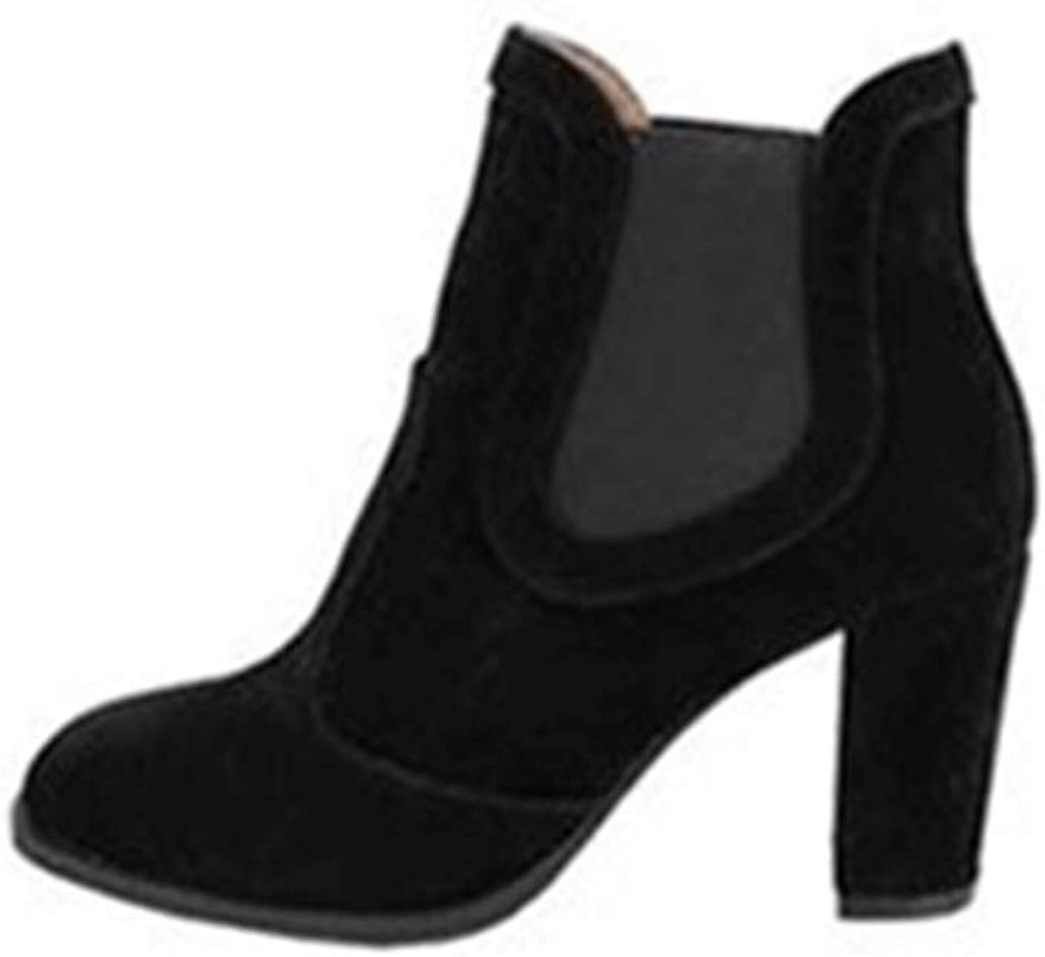 Boots Comfortable Comfortable Autumn Winter Velvet High Heel Pointed Martin Boots.