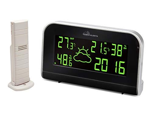 ELV Mobile Alerts RGB-Wetterstation MA10900 inkl. Außensensor, Kompatibel mit Mobile-Alerts-System