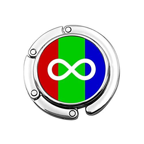 Autism Pride Flag Purse Hook Colgador de Bolso Plegable Colgador de Bolso Largo para Escritorio de Mesa PC