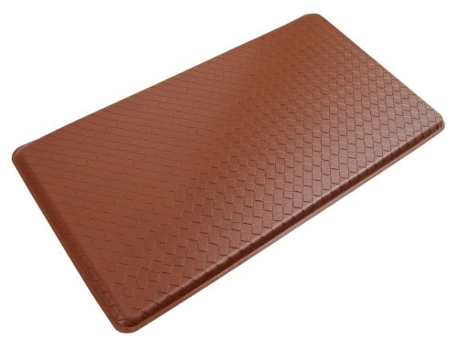 """GelPro Classic Anti-Fatigue Kitchen Comfort Chef Floor Mat, 20x36"""", Basketweave Chestnut Stain Resistant Surface with 1/2"""" Gel Core for Health and Wellness"""