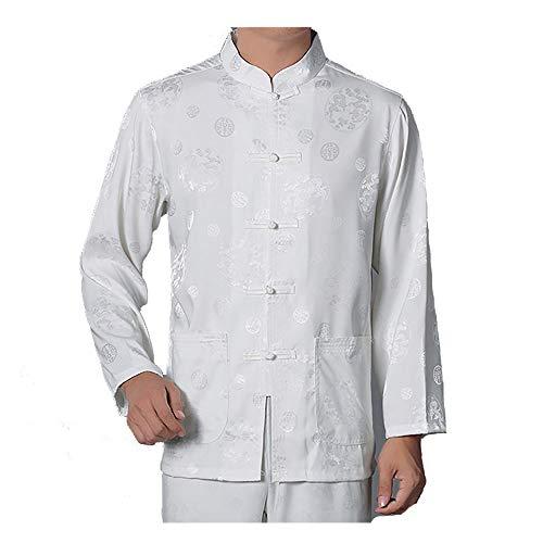 GWBI Nicht EINFACH VERFORMT Mit dem Stehkragen verformt Sich die Uniform nach dem Waschen Nicht. Mit Einer handgefertigten Schnalle voller Körner, die sorgfältig von Hand gefertigt wurde.-White-43