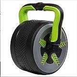 UYIDE Home Rodillos de ejercicio abdominal, rueda gigante silenciosa y rueda abdominal, pérdida de peso para hombres y mujeres, equipo de entrenamiento para abdominales, color verde