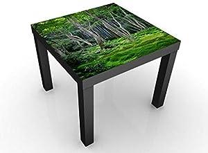 Apalis Tavolino Design Japanese Forest 55x55x45cm, Tischfarbe:Schwarz;Größe:55 x 55 x 45cm