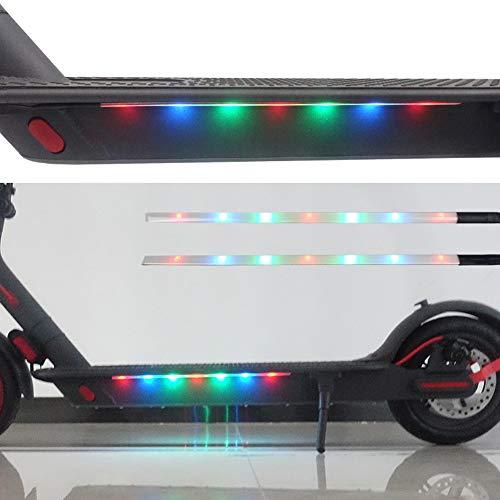 Balight Elektroroller faltbare Lichtstreifen leuchten buntes dekoratives Sicherheitslicht für Xiaomi M365 Streifen