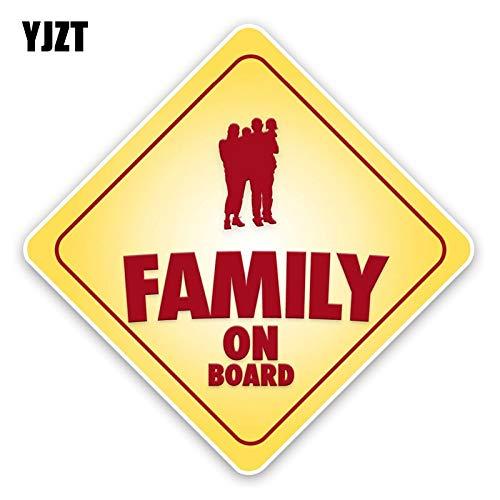 WAXY 15.3 * 15.3 CM Familiekaart Baby aan boord Venster Bumper Sticker Kleurrijke Decals C1-5695