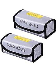 iwobi 2 x brandwerende explosieveilige zak met rits, vuurvaste zak met hoge batterij, voor de veiligheid