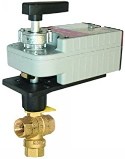 Honeywell 3-way VBN Threaded Control Ball Valves and Actuators - Color - MN7505A2001/U VBN3_MN7505-c1