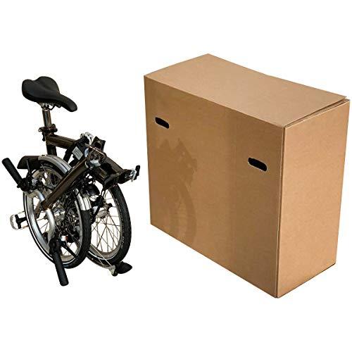 Caja de cartón para bicicleta – Caja de cartón de doble pared para embalar, almacenar y enviar – Caja de envío de bicicleta con asas – Disponible en (70 x 33 x 64)