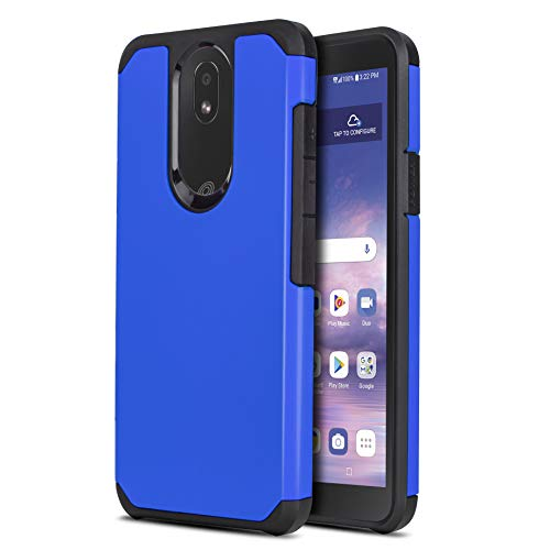 CasemartUSA Phone Case for [LG Journey LTE (L322DL)], [DuoTEK Series][Blue] Shockproof Defender Impact Resistant Cover for LG Journey LTE (Tracfone, Simple Mobile, Straight Talk, Total Wireless)