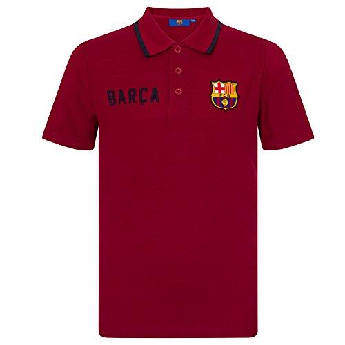 FC Barcelona Jungen Polo-Shirt mit Wappen - Offizielles Merchandise - Geschenk für Fußballfans - Blau - Rot - 8-9Jahre