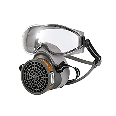 Meimei367 1Set Half Face Gas Chemical Mask with Goggles - Filter Breathing Respirators for Painting Spray Welding Industrial Accessories by Meimei367