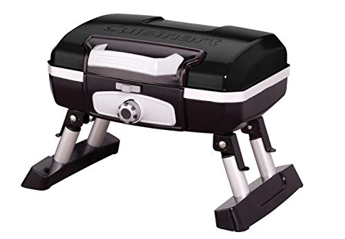 Cuisinart CGG-180TB Petit Gourmet Portable Tabletop Gas Grill, Black (Renewed) Grills Propane