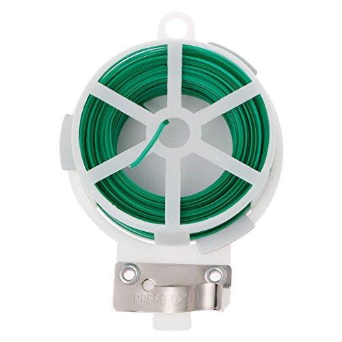 BIlinl Bobine de câble de Torsion de Fleur de Plante de Jardin de Ligne de Rouleau de Fil de 30 m avec Le coupeur