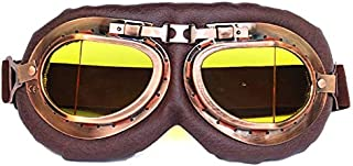 Sunglasses Fashion Accessories Goggles Motorcycle Riding Electric Line Juji Retro Goggles Wind and Dust (Color : Yellow)