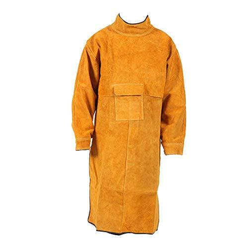 Funihut soldeerschort van leer, beschermende schort, professioneel zweetschort van leer, voor heren, duurzaam solderen en bescherming voor Forgeron