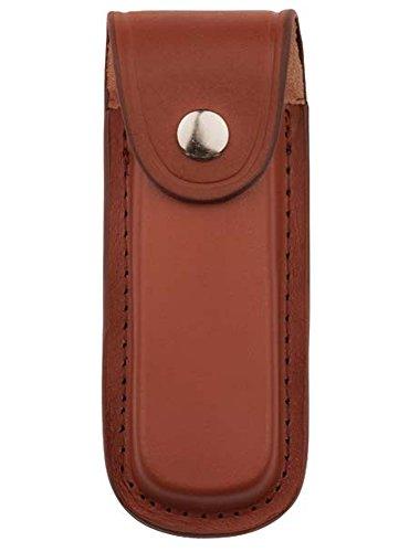 jowiha - Estuche de piel para cuchillos de 10 o 12 cm, color negro o marrón, color marrón, tamaño 11,13