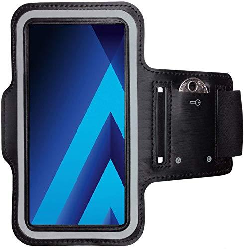 CoverKingz Armtasche für Samsung Galaxy A5 Sportarmband mit Schlüsselfach, Laufarmband, Sport Handyhülle, Handy Armband Schwarz