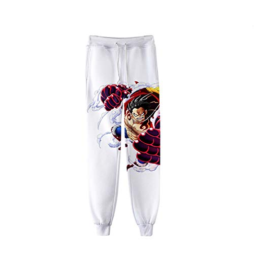 CRBTA Sweatpants Una Pieza 3D Pantalones Cargo Unisex para Hombre Pantalones Deportivos elásticos Jogger Pantalones Deportivos de Cintura elástica con cordón-XL
