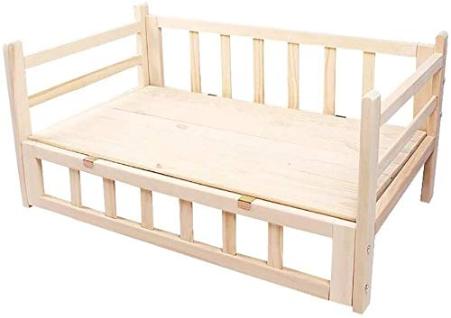 UIZSDIUZ Haustierbett Hundebett Stabiles Holz, Starke Tragfähige Durable Pet Lounge Sofa, Katzenbett (Size : XL(L115×W60×H40cm))