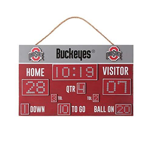 FOCO NCAA Ohio State Buckeyes Unisex Scoreboard Signscoreboard Sign, Team Color, One Size
