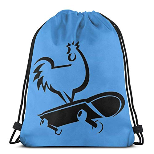 BFGTH Kordeltasche Chicken Skateboard Drawstring Backpack Rucksack Shoulder Bags Gym Bag