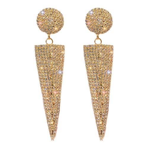 Schataccessoires, sieraden Grote oorbellen voor vrouwen Geometrische driehoek Metalen kristallen druppel oorbellen Fashion Party oorbellen