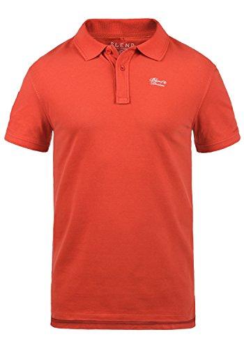 BLEND 703096ME Dave Poloshirt, Größe:XL;Farbe:Paprika Red (73814)