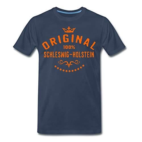 Original Schleswig-Holstein Rahmenlos® Männer Premium T-Shirt, XL, Navy