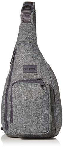 Vera Bradley Women's Recycled Lighten Up ReActive Mini Sling Backpack, Gray Heather, One...