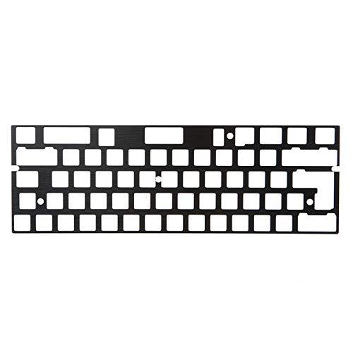 キーボードDIYキット ConcorsoディALLUMINIO Anodo PiastraディPosizionamento Supporto ISO ANSIパーGH60 PCB 60% (Colore : Black)