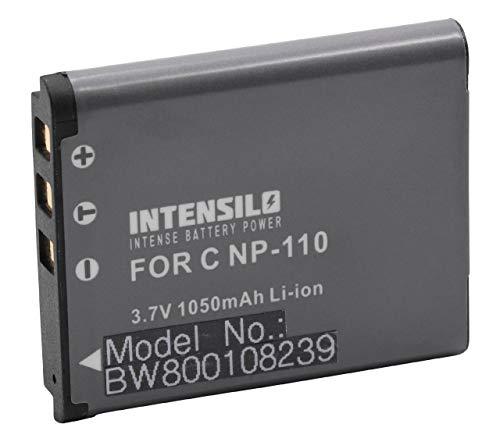 INTENSILO Batería Li-Ion 1050mAh (3.7V) para cámara JVC GZ-V500, GZ-V500BUS, GZ-V505, GZ-V505B, GZ-V505L y NP-110, JVC BN-VG212.