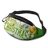 PULLA Riñonera Deportivo Bolso Cintura Cinturón Ajustable Running Belt Bolsa de Correr Árbol de Navidad