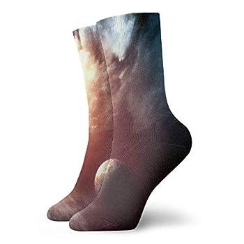 Unisex High Ankle Cushion Crew Socks Abstract Earth Casual Sport Socks